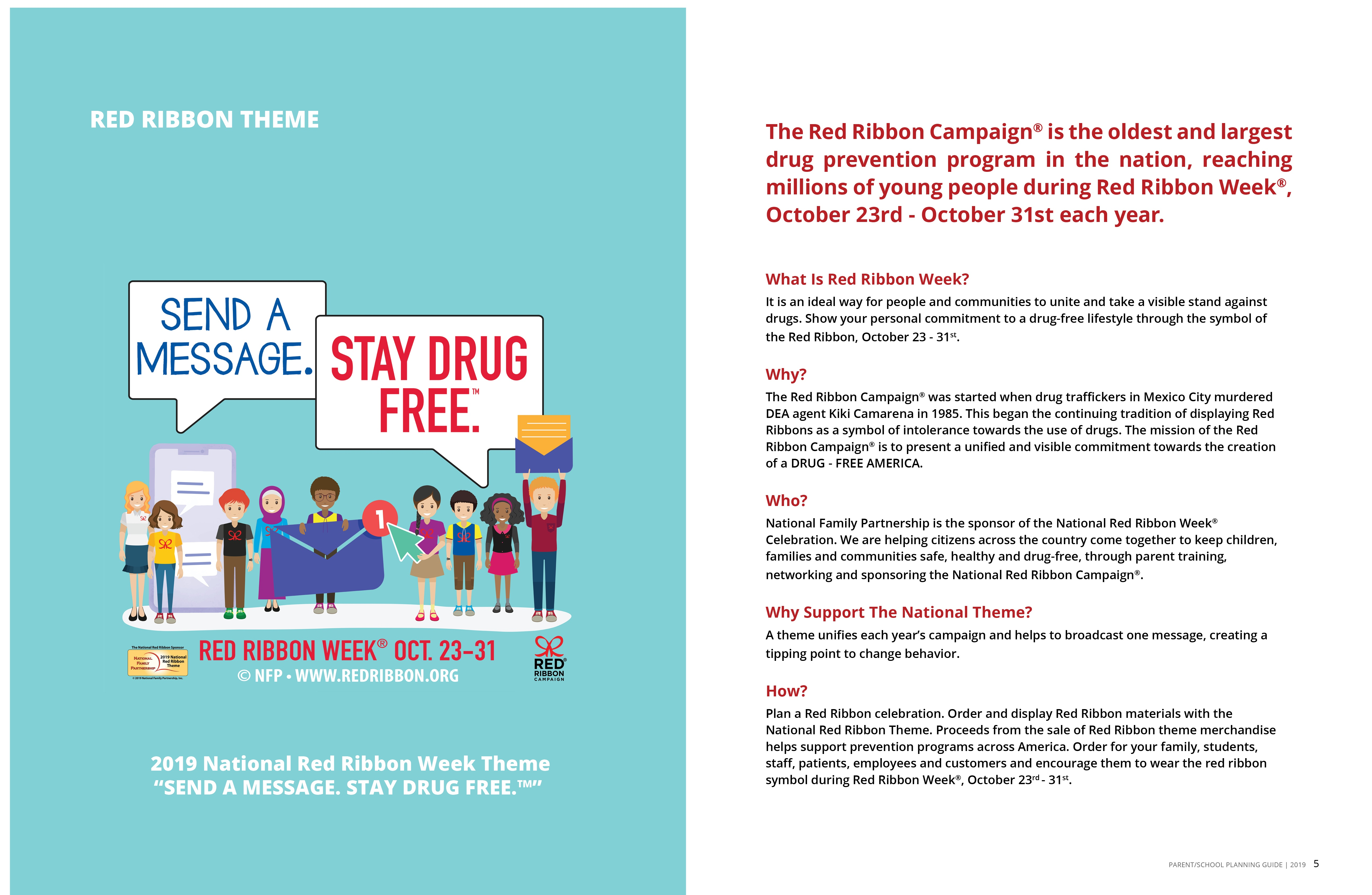 Red Ribbon Campaign: Downloads - Free Printable Drug Free Pledge Cards