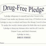 Red Ribbon Week   I Pledge To Be Drug Free! Bookmark   Free   Free Printable Drug Free Pledge Cards