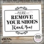 Remove Shoes Sign, Please Remove Your Shoes, Entryway Sign, Entrance   Free Printable Remove Your Shoes Sign