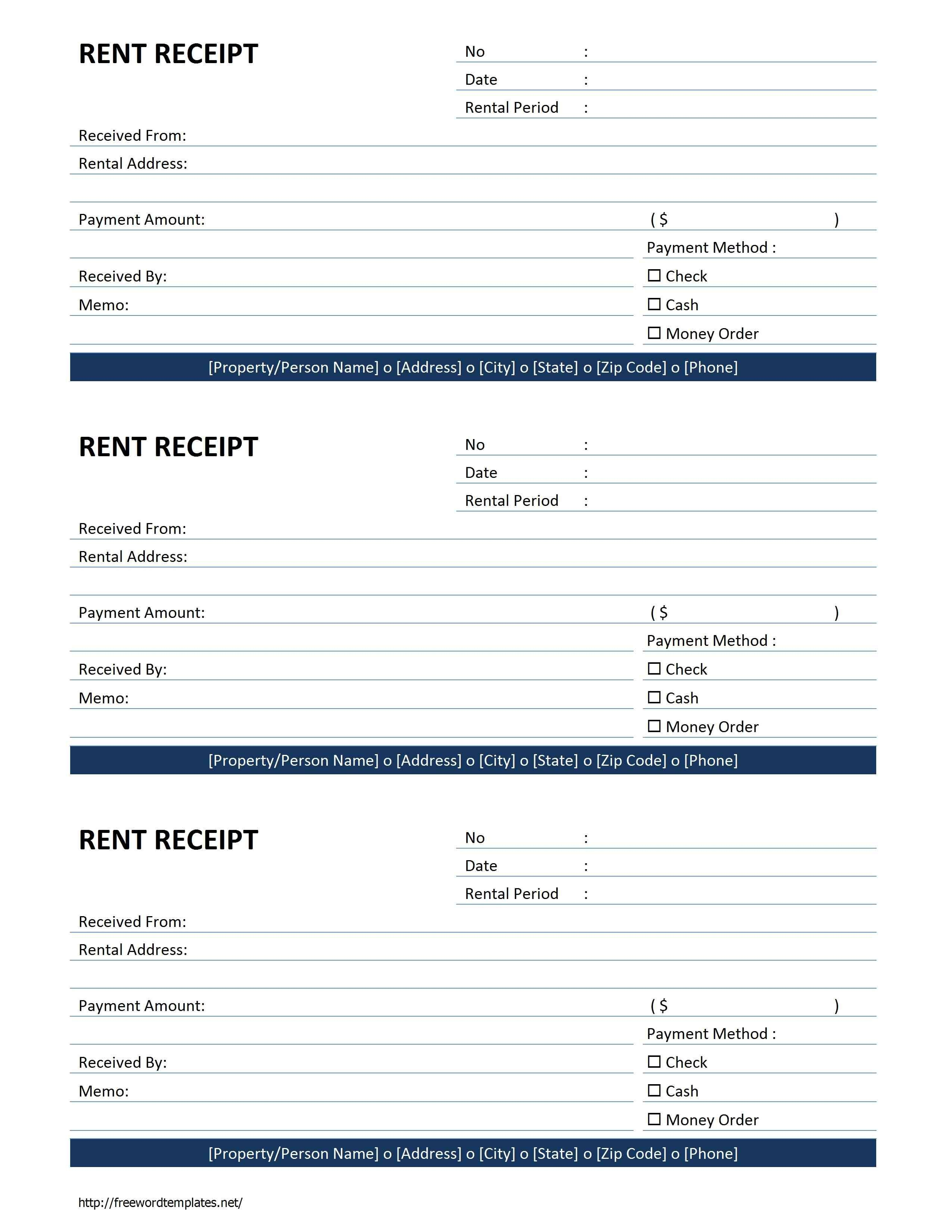 Rent Receipt Template   Free Microsoft Word Templates - Free Rent - Free Printable Rent Receipt