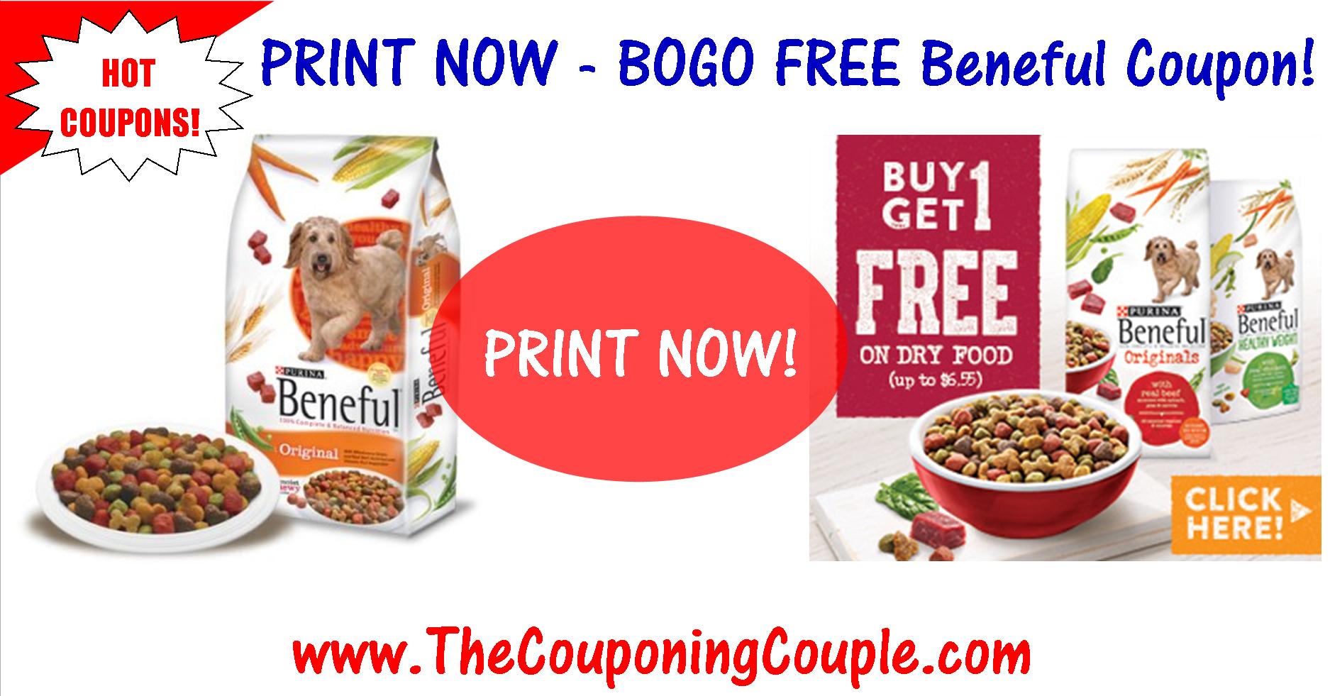 Reset*** Bogo Free Beneful Dog Food Printable Coupon ~ Print Now! - Bogo Free Coupons Printable