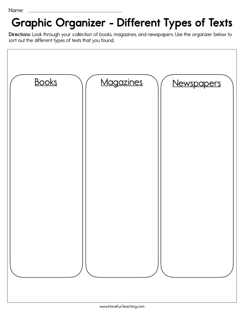 Resources   Have Fun Teaching - Free Printable Compare And Contrast Graphic Organizer