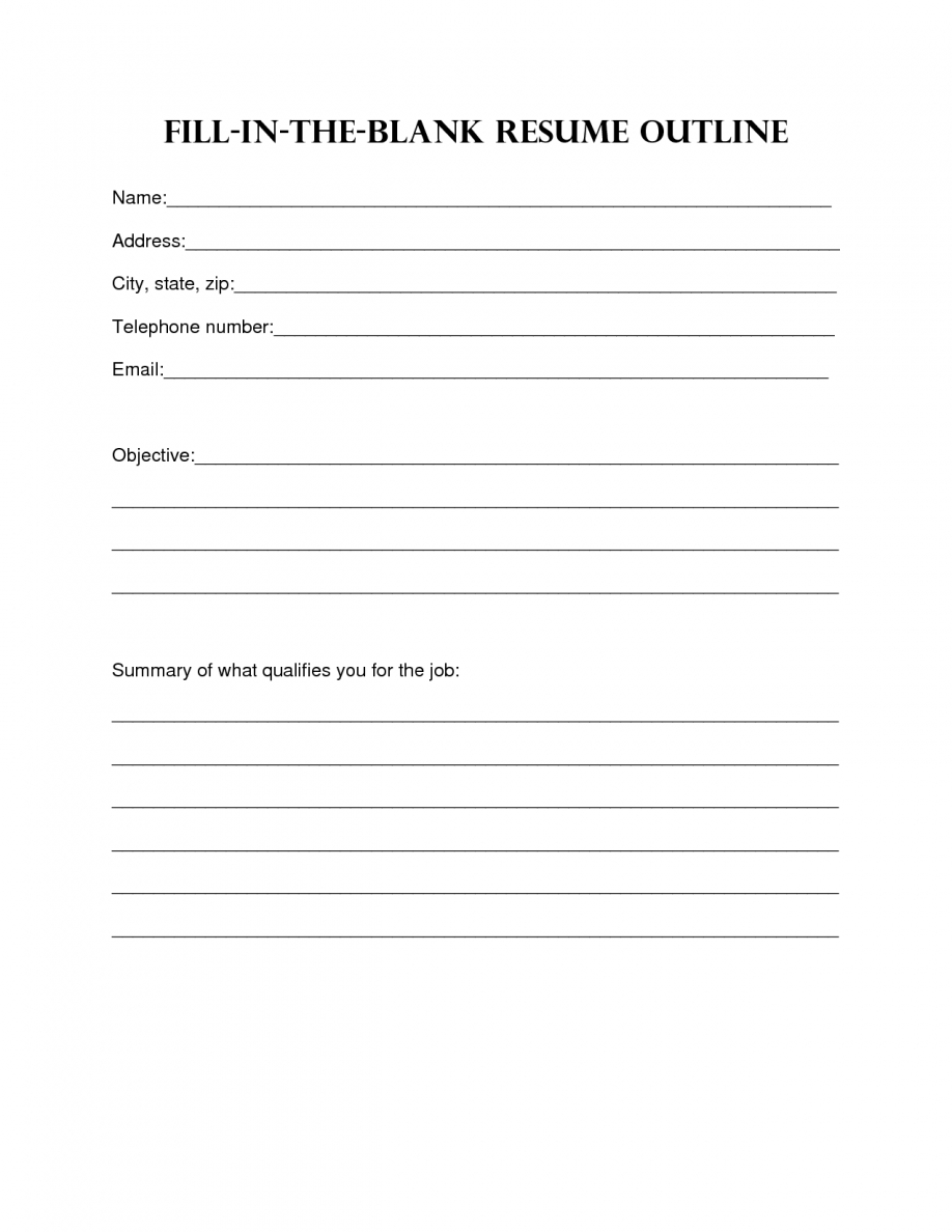 Resume Design. Blank Resume Template Sample Blank Resume Templates - Free Online Printable Resume Forms