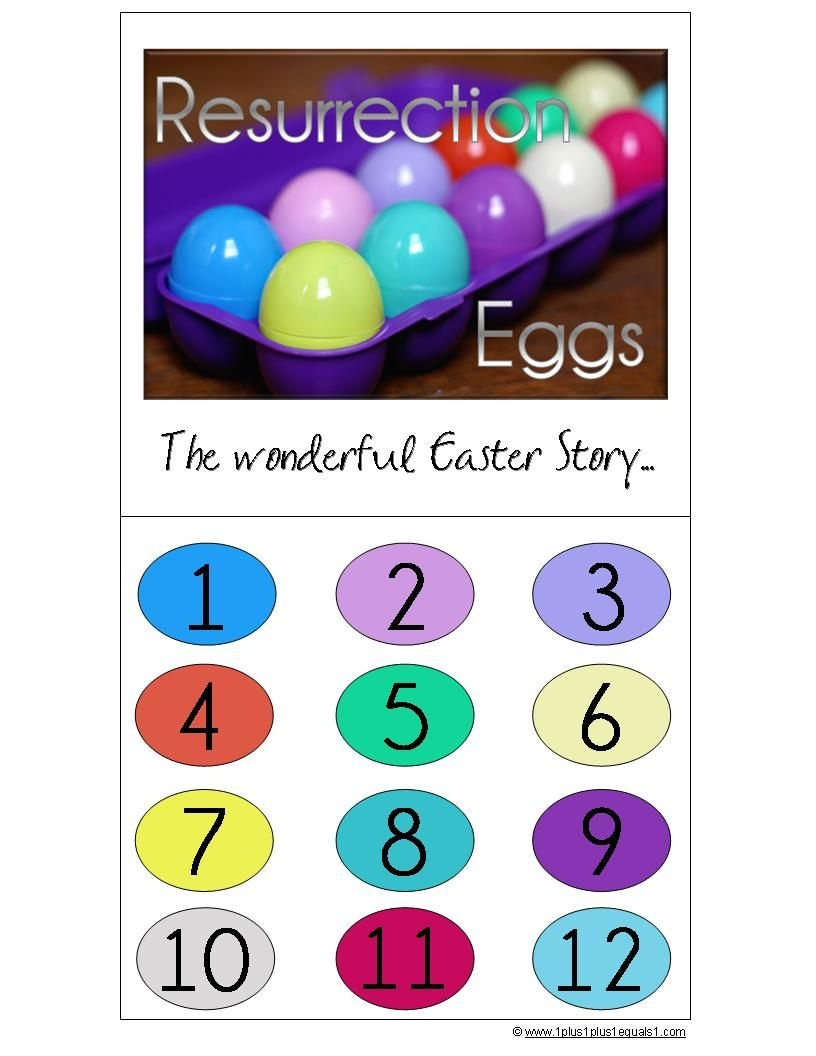 Resurrection Eggs (With Free Printable And Links To Other Resources - Free Printable Easter Sermons