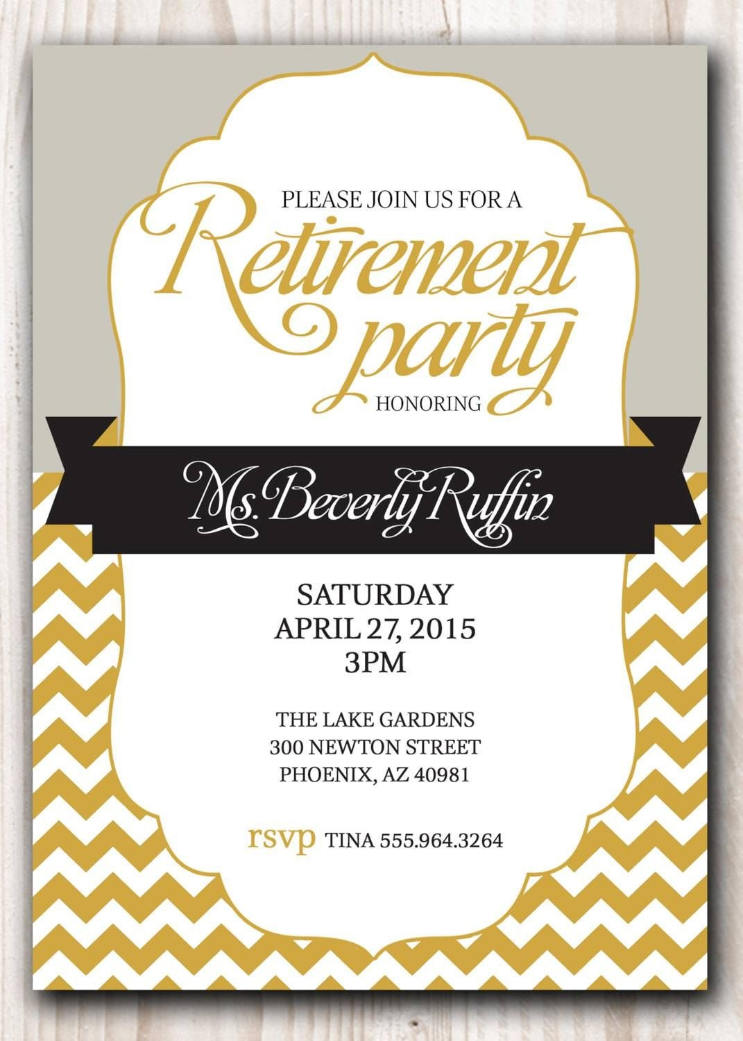Retirement Party Invitation Template Microsoft - Demir.iso-Consulting.co - Free Printable Retirement Party Invitations