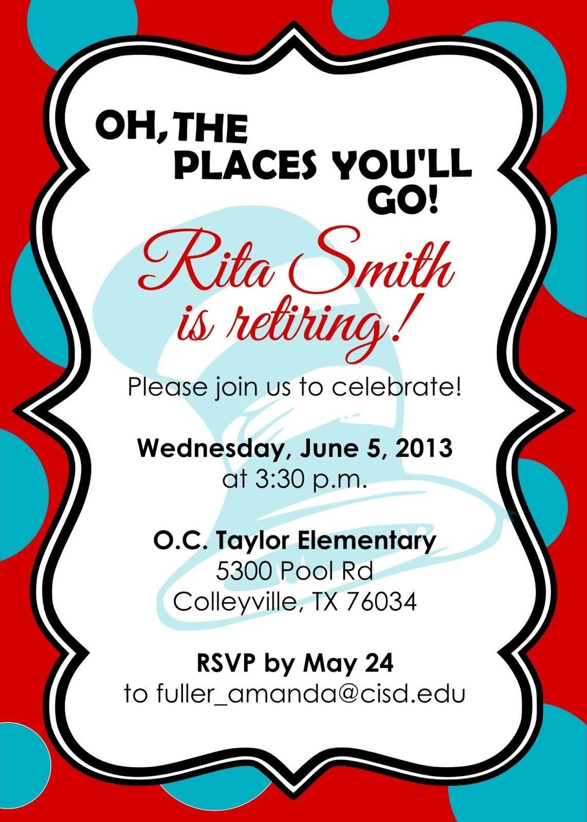 Retirement Party Invitations Free Templates | Fun Stuff | Retirement - Free Printable Retirement Party Invitations