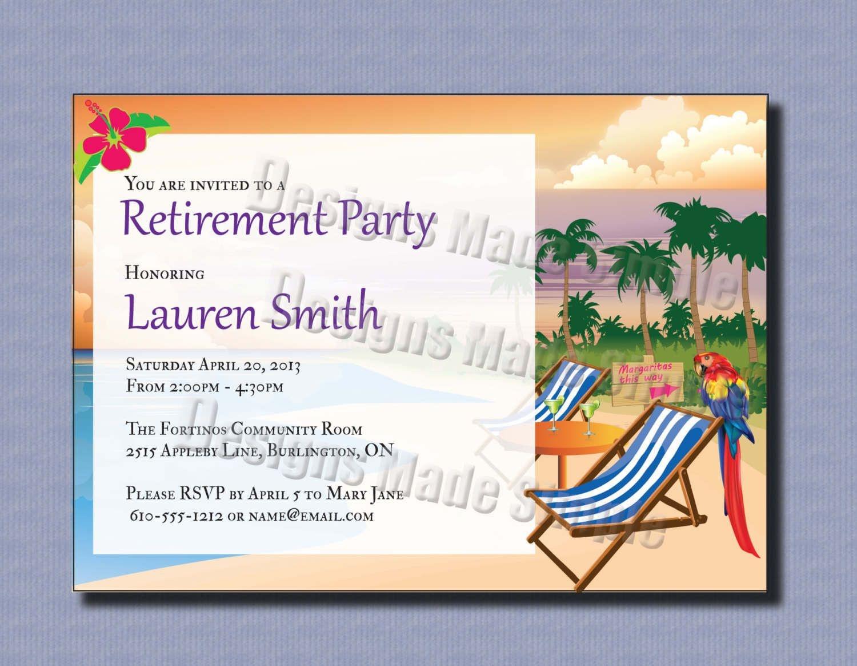 Retirement Party Invitations Template 2Xizvtxm | Retirement Or Cooks - Free Printable Retirement Party Invitations