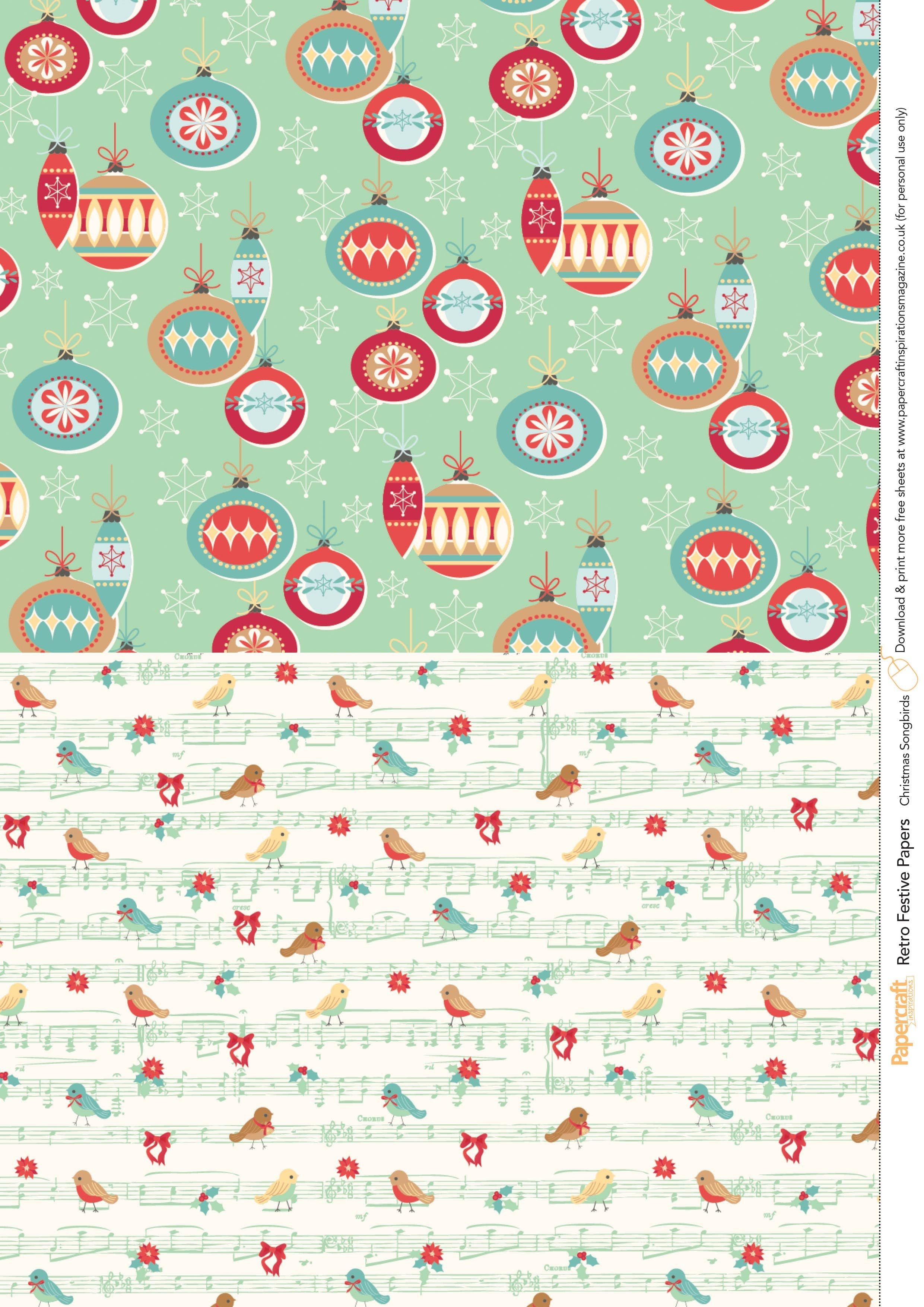 Retro Festive Free Printables From Papercraft Inspirations 145 - Free Printable Scrapbook Paper Christmas