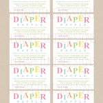 Review Free Printable Diaper Raffle Tickets For Baby Shower   Ideas   Diaper Raffle Free Printable