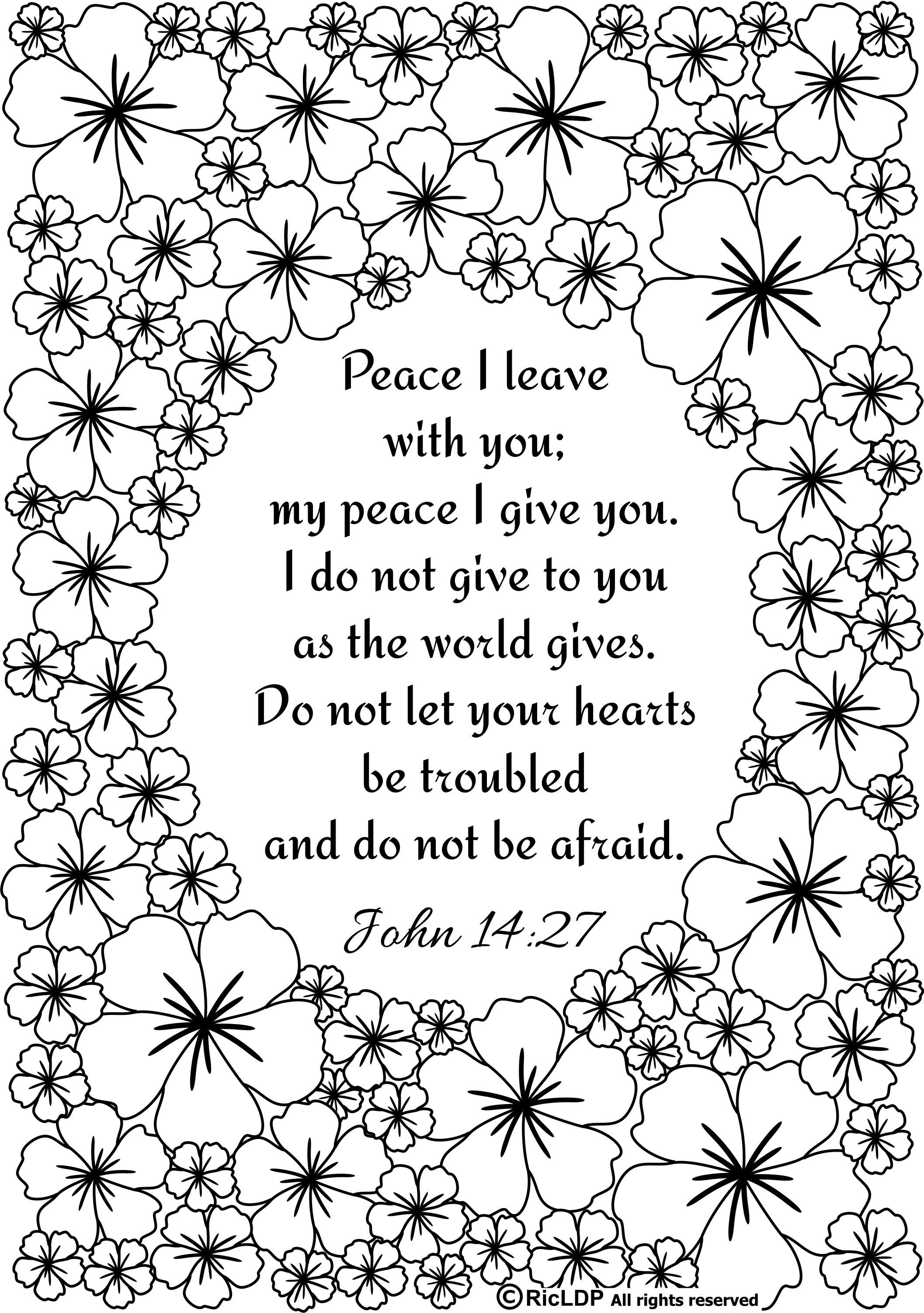Ricldp Artworks (Ricldp)   Coloring Pages!!!   Bible Verse Coloring - Free Printable Bible Coloring Pages