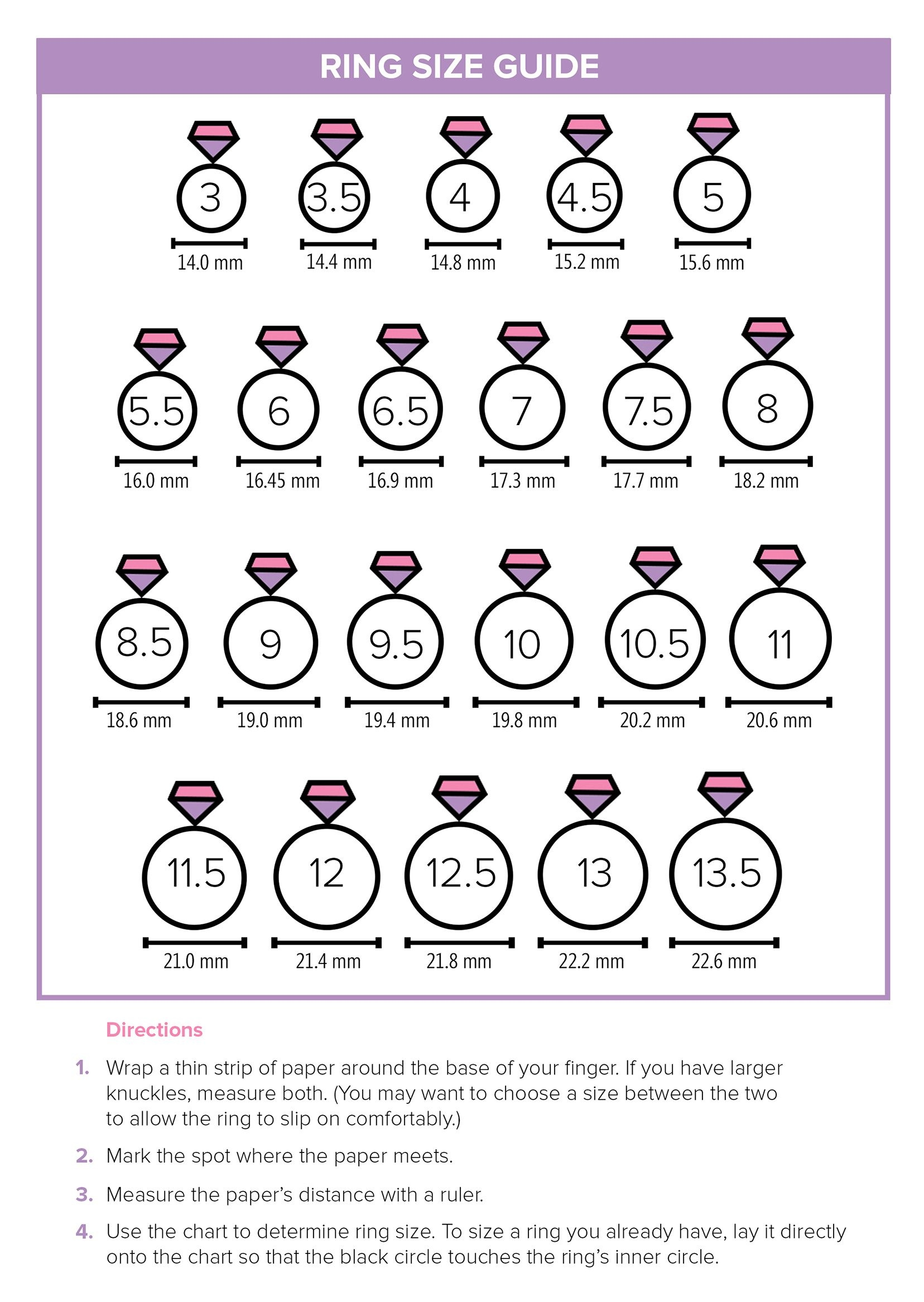 Ring Doesn't Fit? Here's The Easiest Way To Find Your Size | Style - Free Printable Ring Sizer Uk