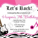 Rockstar Birthday Party Invitation Zebra Printjcbabycakes   Free Printable Rockstar Birthday Invitations