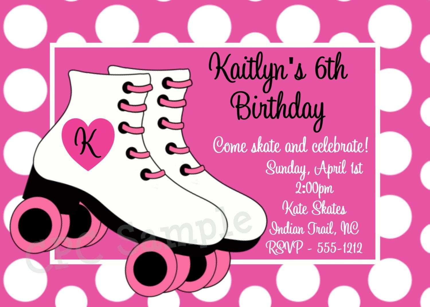 Roller Skating Party Invitations Free | Party In 2019 | Roller - Free Printable Roller Skate Template
