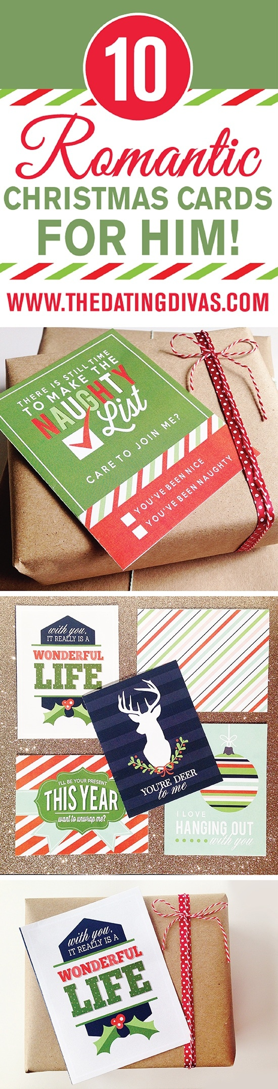 Romantic Christmas Cards For Him - Free Printable Romantic Christmas Cards