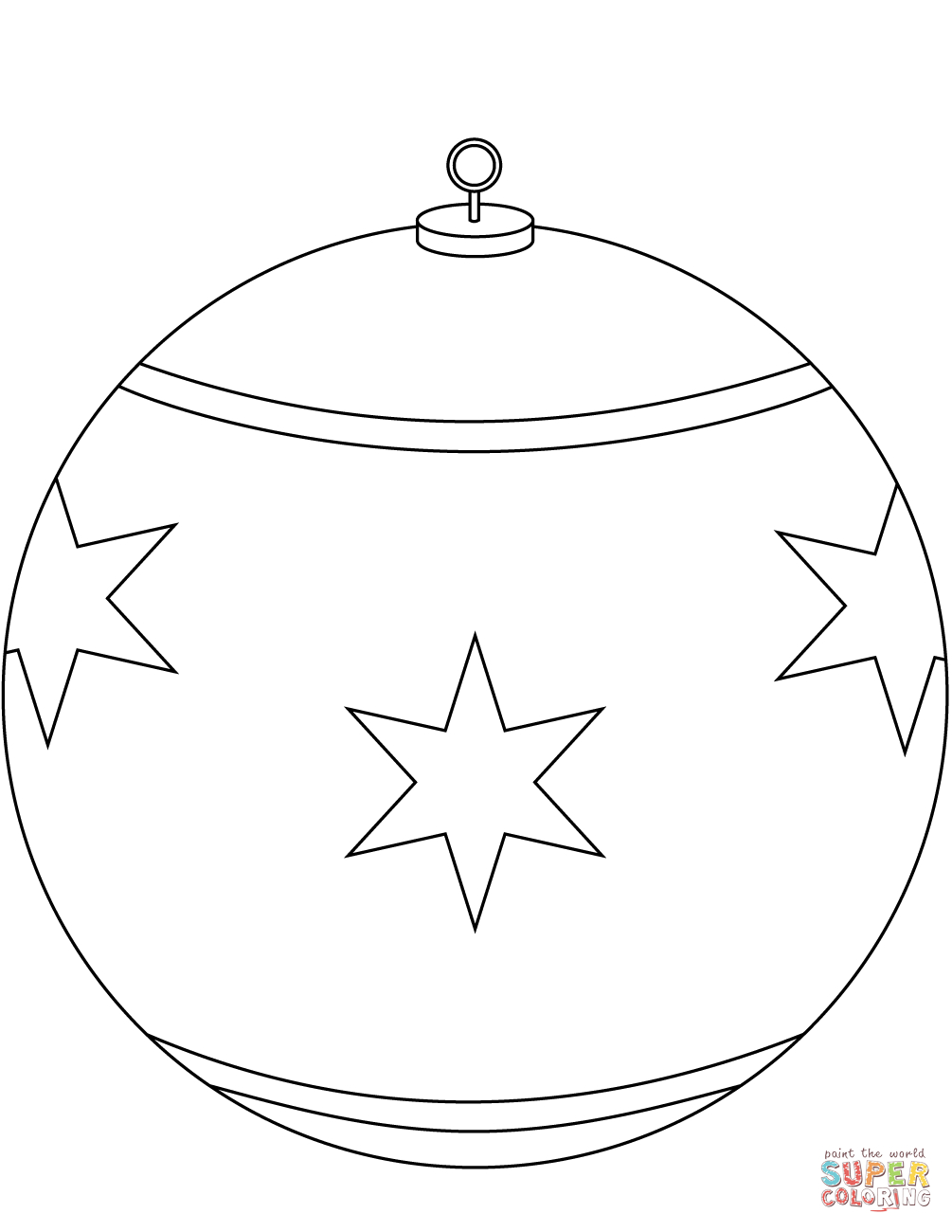 Round Christmas Ornament Coloring Page | Free Printable Coloring Pages - Free Printable Christmas Ornaments