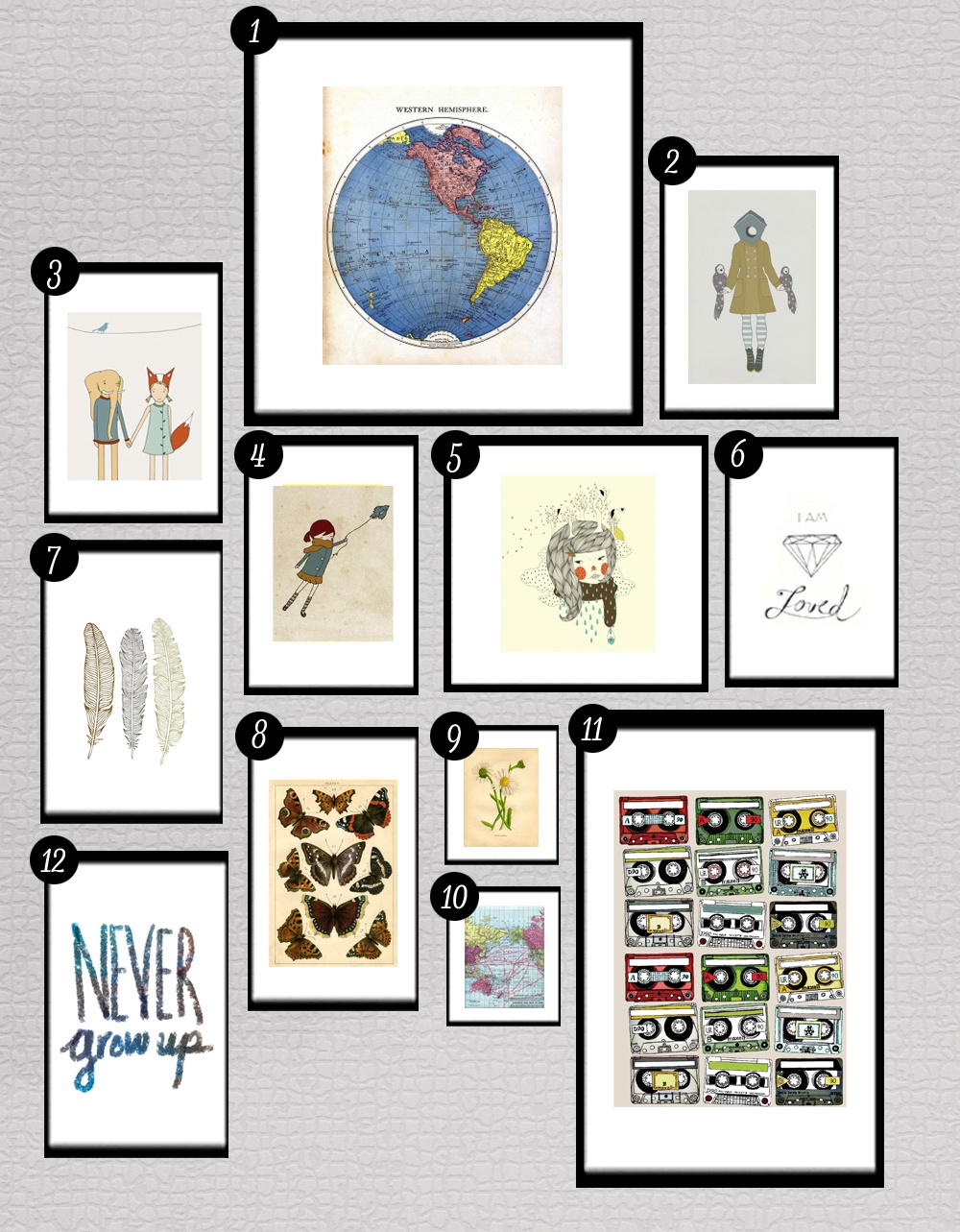 Roundup: Free Printables For Gallery Walls • Little Gold Pixel - Free Gallery Wall Printables