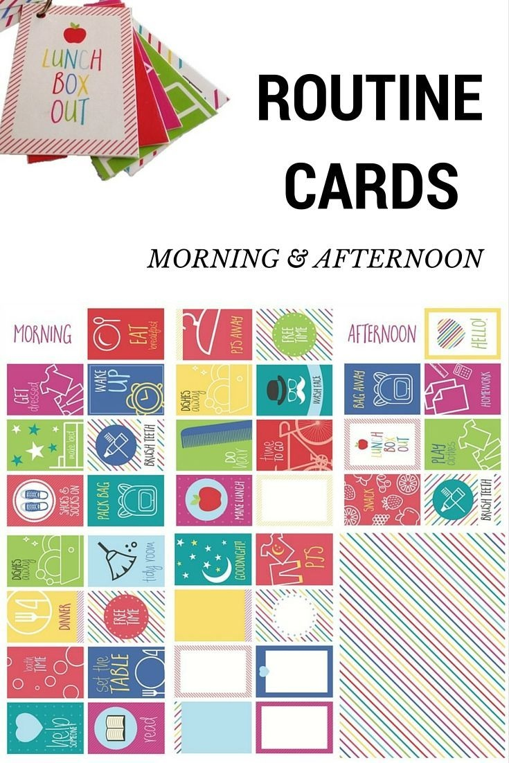 Routine Cards - Morning And Afternoon … | Parenting | Morni… - Free Printable Routine Cards