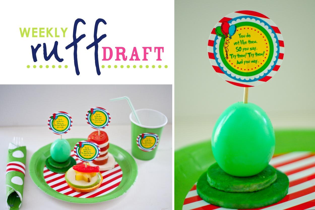 Ruff Draft: Green Eggs And Ham Anyone? Free Printable Logos - Green Eggs And Ham Free Printables