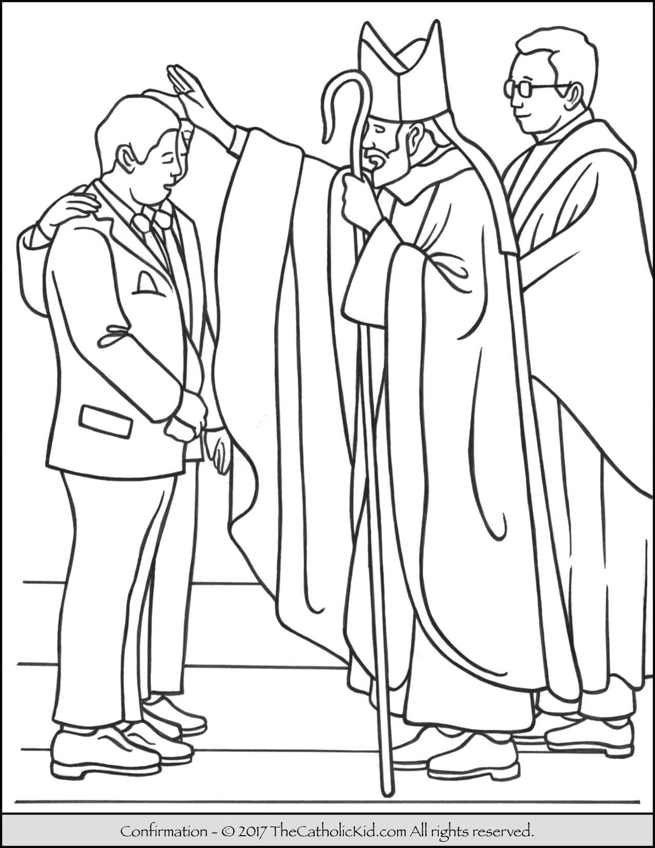Sacrament Of Confirmation Coloring Page. | Sacrament Coloring Pages - Free Catholic Coloring Pages Printables