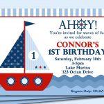 Sailboat Invitation Printable Or Printed With Free Shipping   Free Printable Sailboat Template