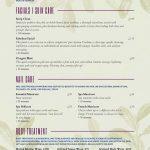 Salon Menu Templates From Imenupro   Free Online Printable Menu Maker