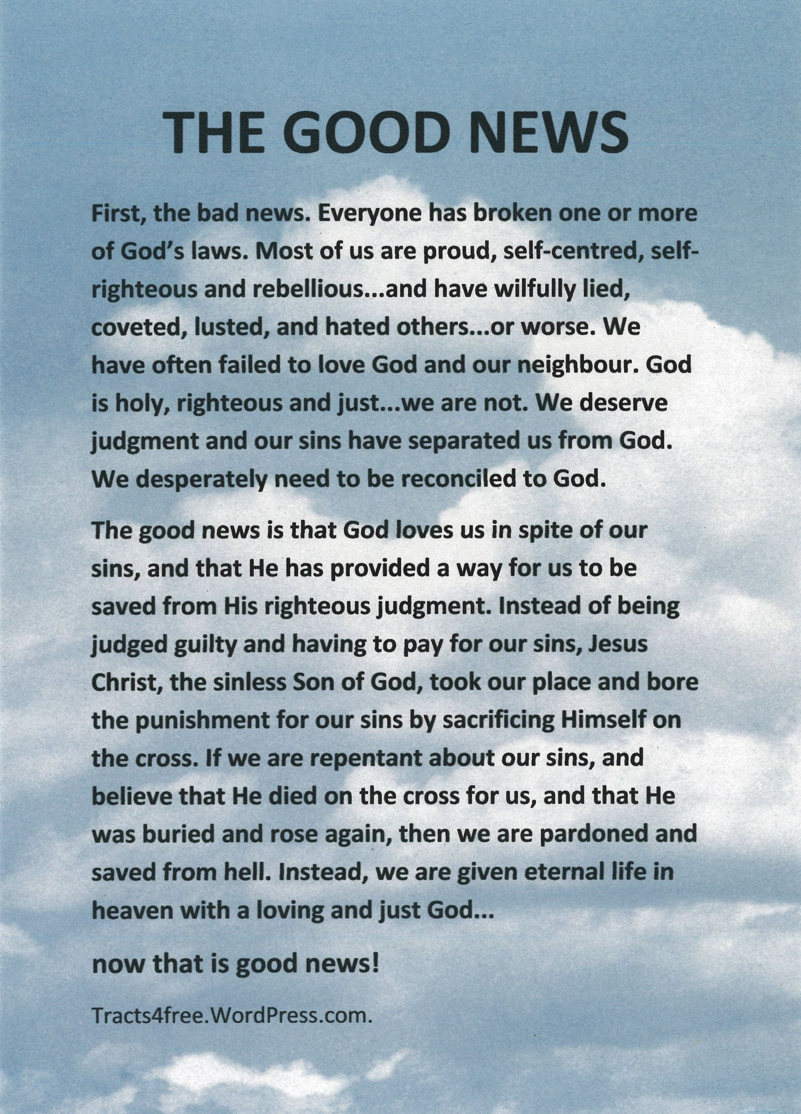 Salvation Tracts Printable - Google Search | The Good News | Good - Free Bible Tracts Printable