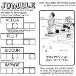 Sample Of Sunday Jumble | Tribune Content Agency | Stuff I Like   Free Printable Jumbles