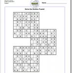 Samurai Sudoku Triples | Math Worksheets | Puzzle, Sudoku Puzzles   Free Printable Samurai Sudoku