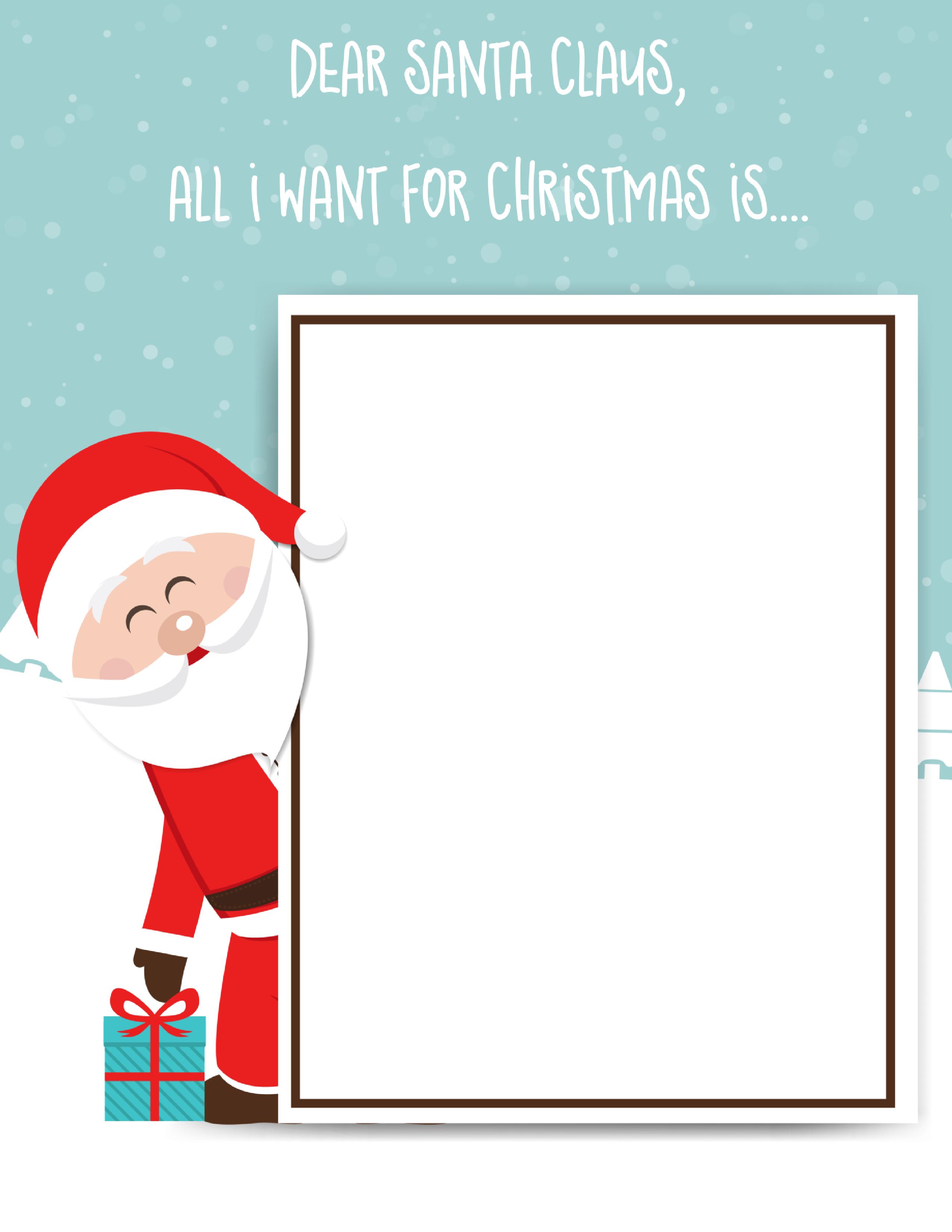 Santa Claus Letter: Free Printable For Kids - - Free Printable Letters From Santa Claus