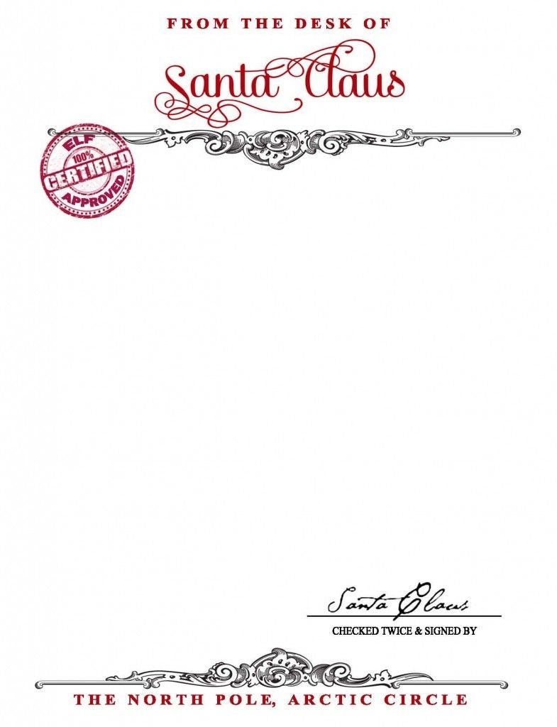 Santa Claus Stationary {Free Printable} - Your Golden Ticket Blog - Free Printable Santa Paper