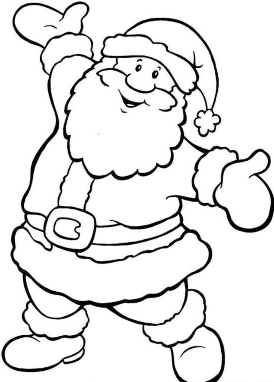 Santa Coloring Pictures Free - Google Search | Grafomotorno | Santa - Santa Coloring Pages Printable Free