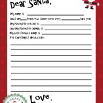 Santa Letter Templates   Kaza.psstech.co   Free Printable Letter From Santa Template
