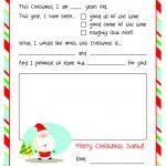 Santa Letters: 10 Free Printable Letters To Santa | Mistletoes   Free Printable Letter From Santa Template