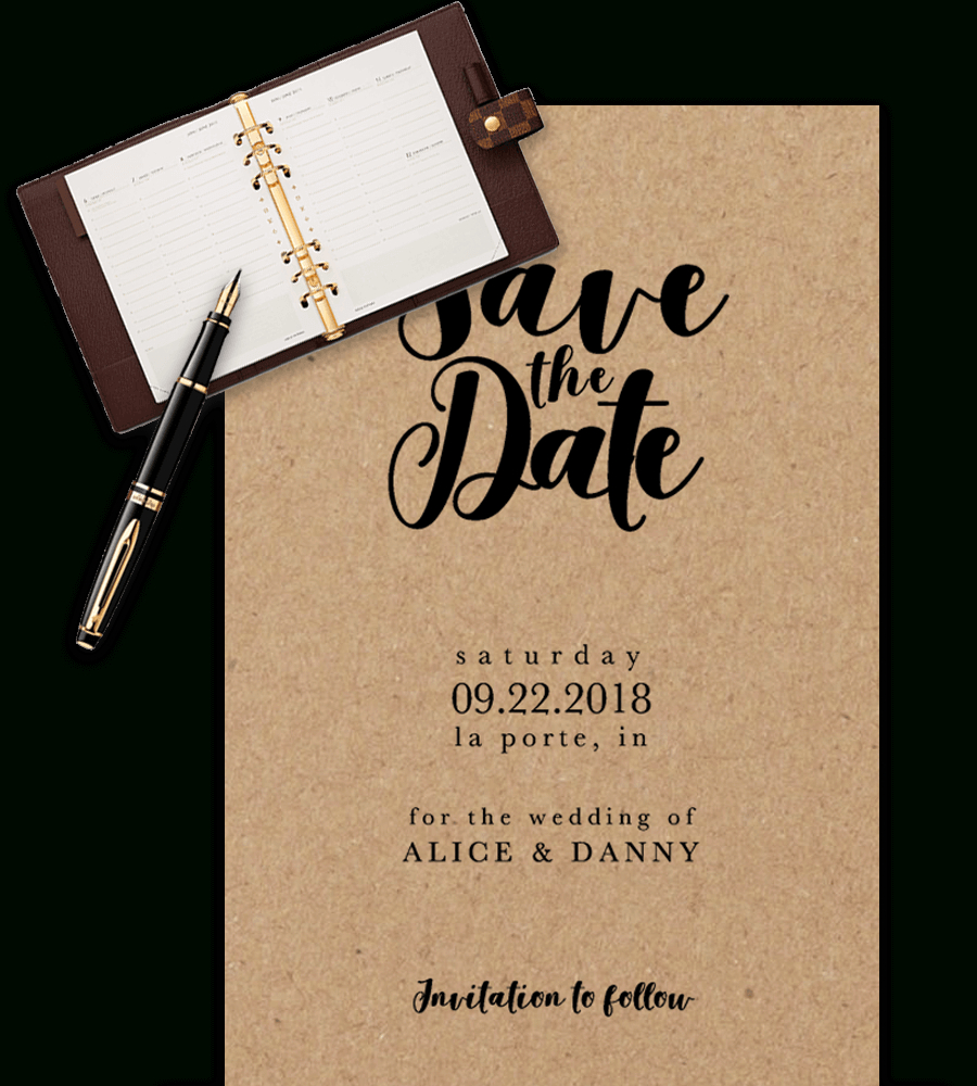 Save The Date Templates For Word [100% Free Download] - Free Printable Save The Date Birthday Invitations