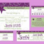 Scentsy Business Bundle Custom Printable Digital Business Cards, Bag   Free Printable Scentsy Business Cards