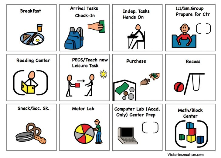 Autism Picture Cards Free Printable