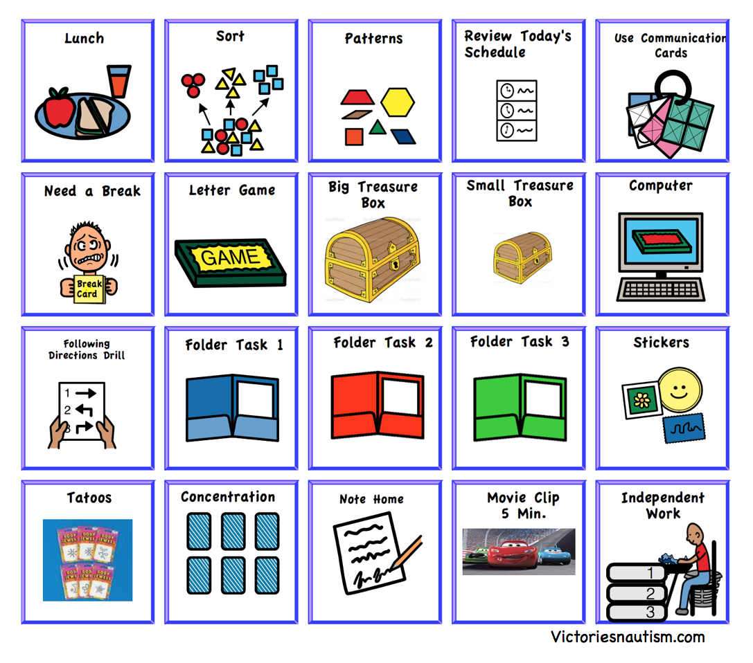 Schedule, Activity And Task Cards - Autism Picture Cards Free Printable