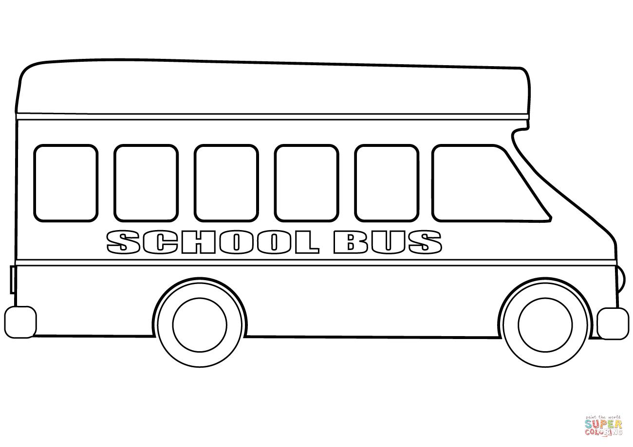 School Bus Coloring Page | Free Printable Coloring Pages - Free Printable School Bus Coloring Pages