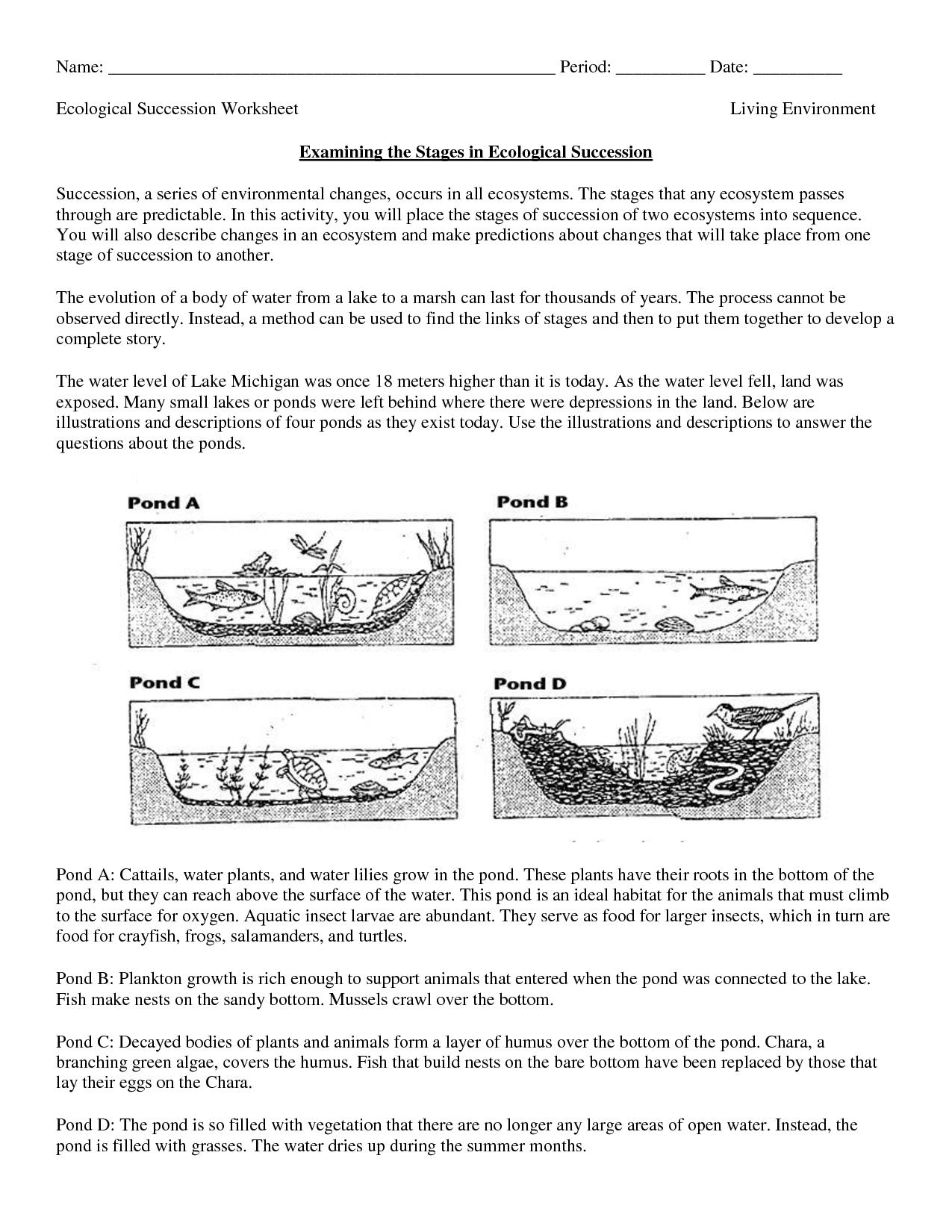 Science Worksheets Ecosystem | Biology Worksheet - Get Now Doc - Free Printable Biology Worksheets For High School