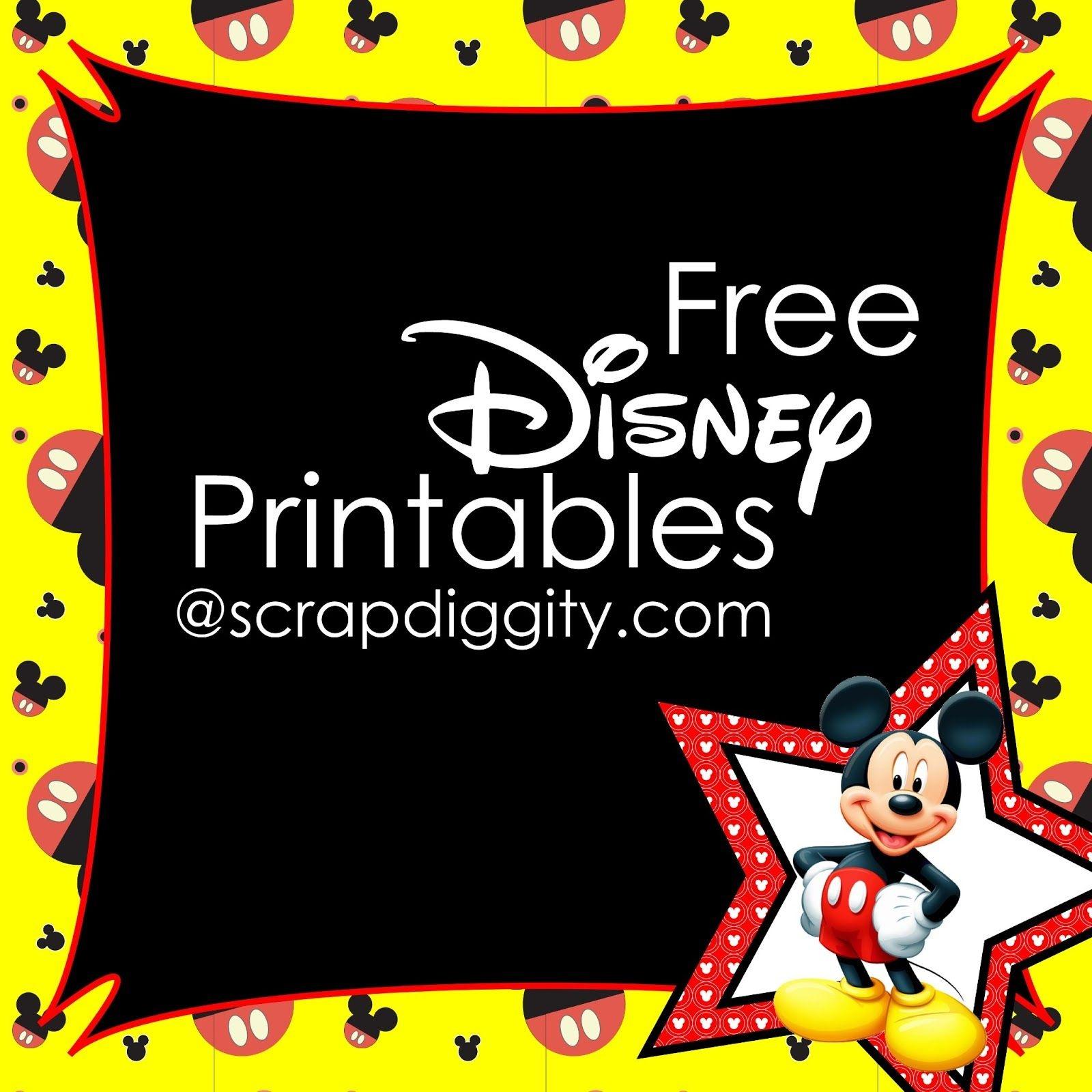 Scrapdiggity Free Disney Printables!-Great For The Classroom - Free Disney Printables