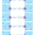 Sea Water Water Bottle Labels | Holiday   Birthday Party In 2019   Free Printable Little Mermaid Water Bottle Labels