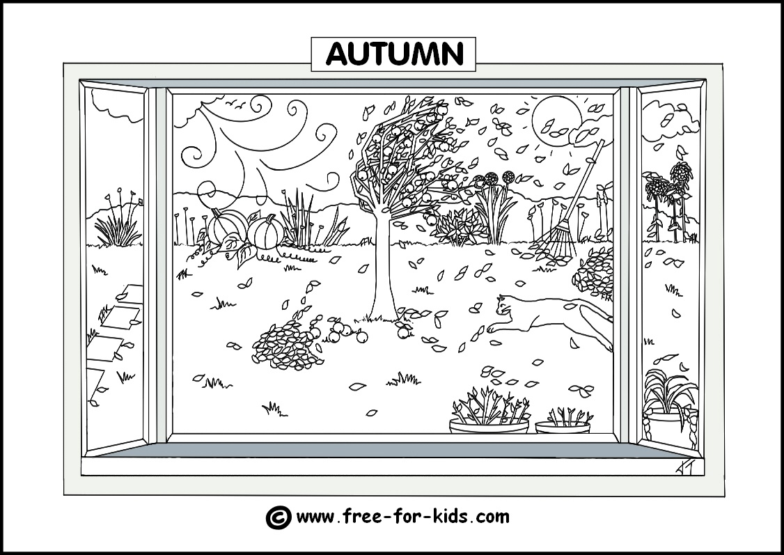 Seasons Colouring Pages - Free Printable Coloring Pages Fall Season