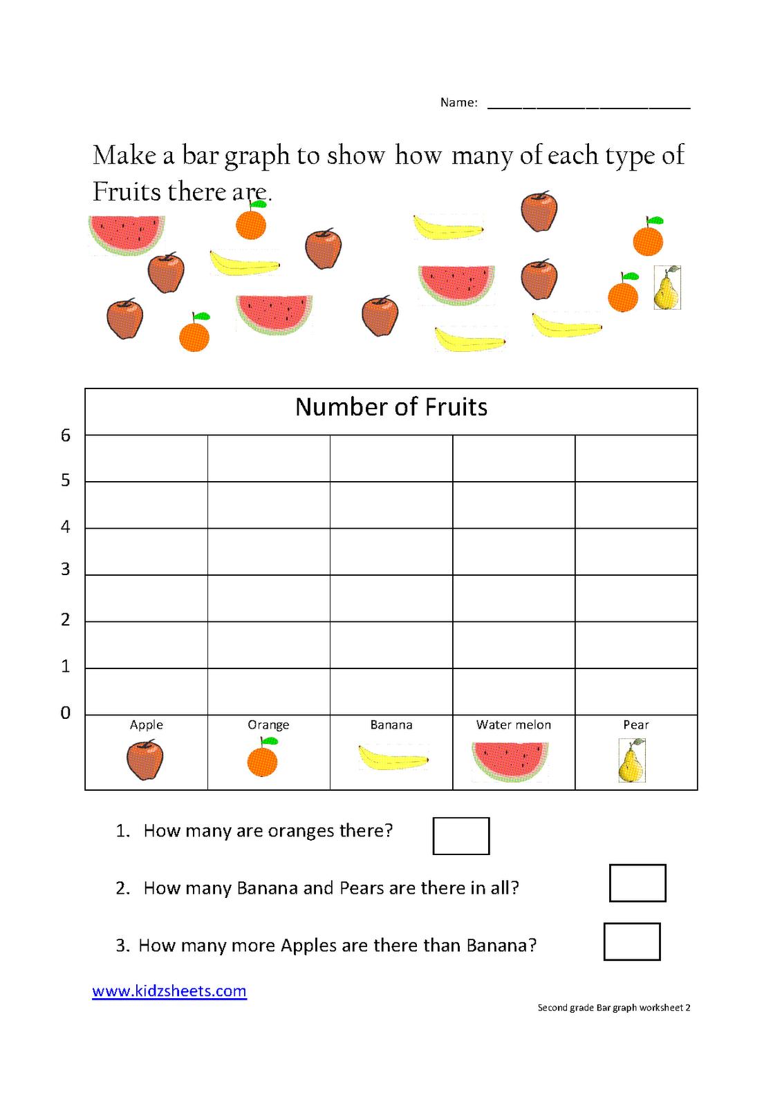 Second Grade Bar Graph | Grade 2 | 2Nd Grade Worksheets, Graphing - Free Printable Graphs For Kindergarten