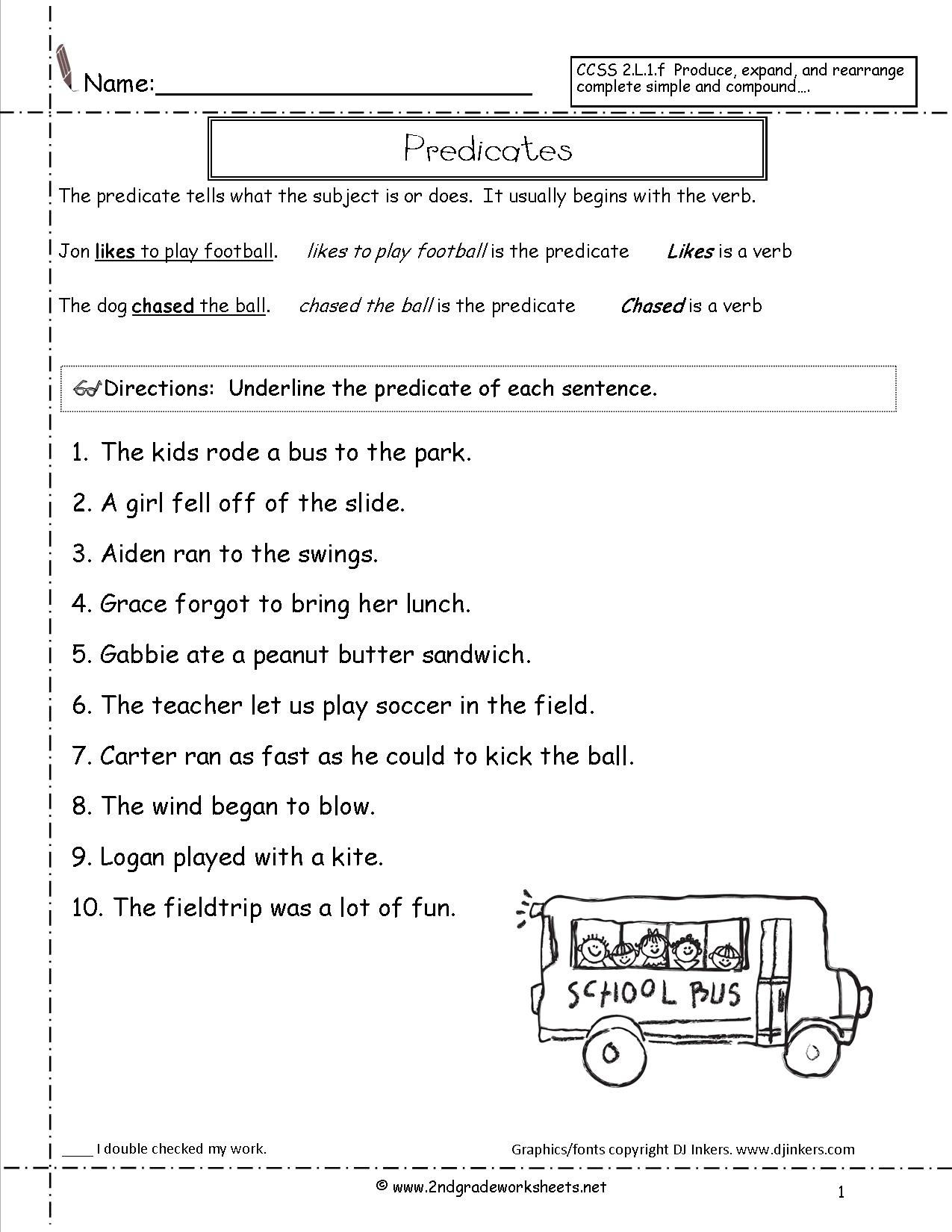 Second Grade Sentences Worksheets, Ccss 2.l.1.f Worksheets. - Free Printable Sentence Correction Worksheets