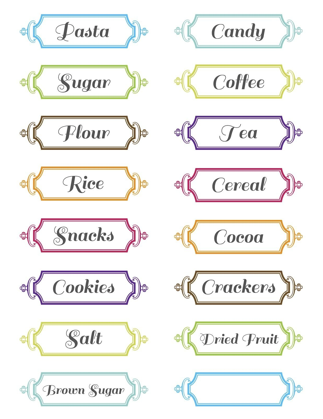 Seed To Sprout Design: Free Printable Pantry Labels!   Printables - Free Printable From The Kitchen Of Labels