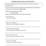 Sentences Worksheets | Compound Sentences Worksheets   Free Printable Simple Sentences Worksheets