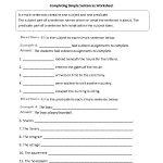 Sentences Worksheets | Simple Sentences Worksheets   Free Printable Simple Sentences Worksheets