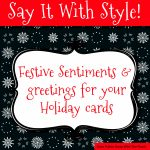 Sentiments And Greetings For Christmas Cards   Free Printable Christmas Cards With Photo Insert