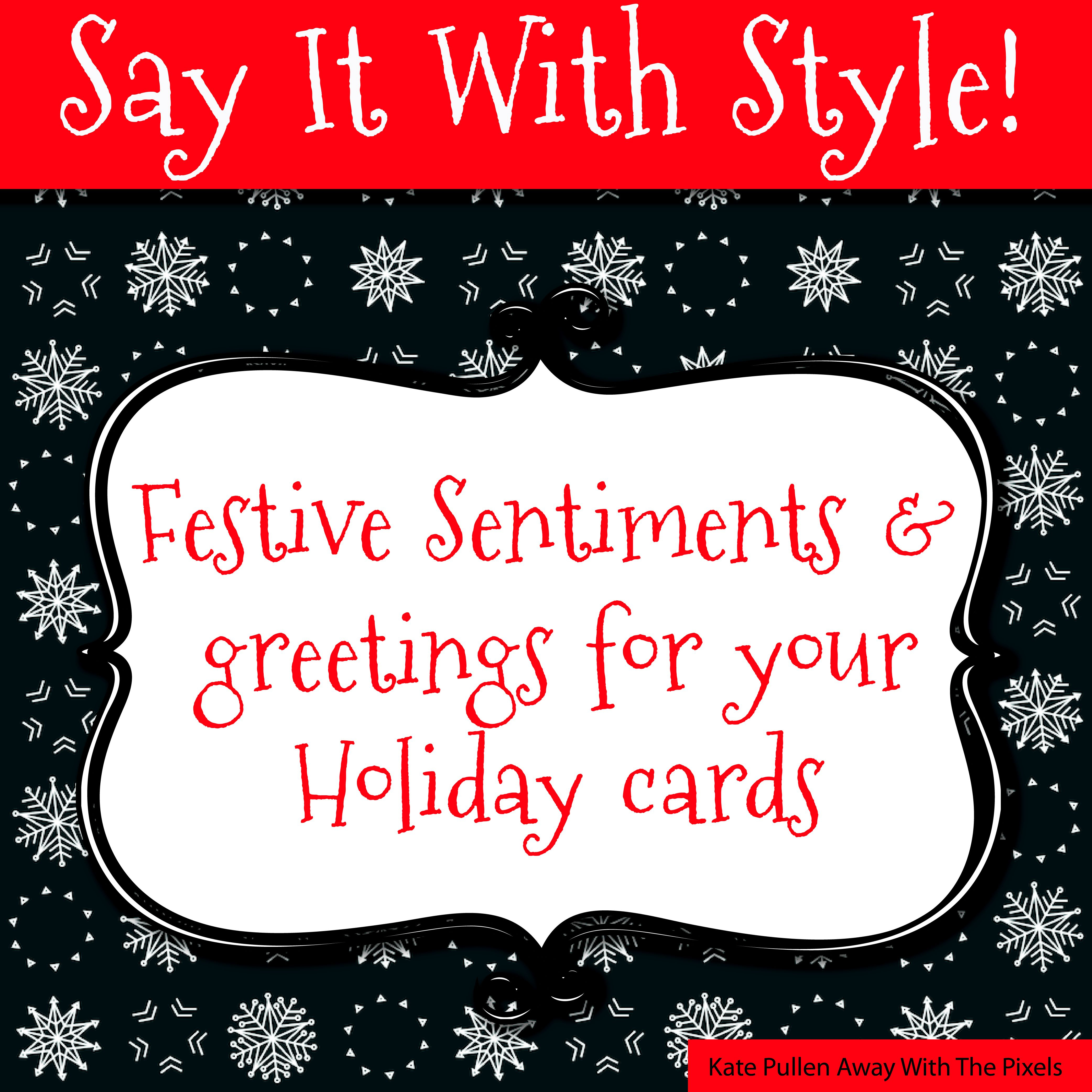 Sentiments And Greetings For Christmas Cards - Free Printable Christmas Cards With Photo Insert