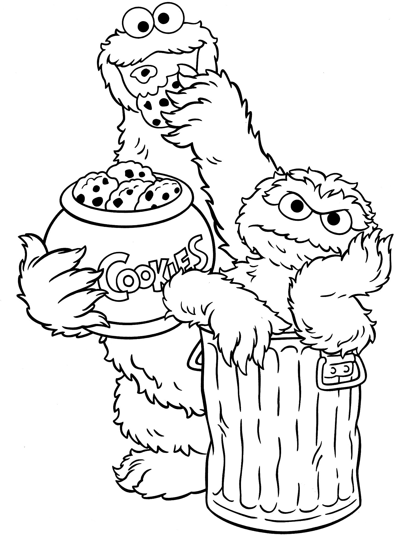 Sesame Street Coloring Pages - Google Search | Seseme Party | Sesame - Free Printable Coloring Pages Sesame Street Characters
